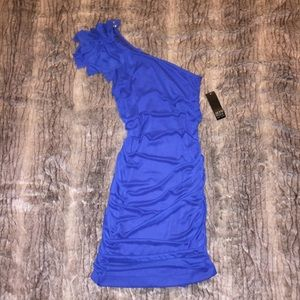New NWT Alyn Paige One Shoulder Royal Blue Dress M